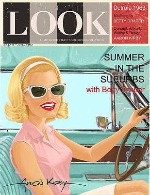 Betty Draper In Look Poster by Aaron Kirby