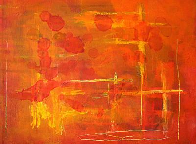 Between The Lines Poster by Nancy Merkle