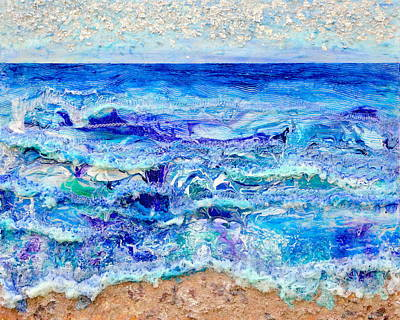 Betwixt Sand And Sky Poster by Regina Valluzzi