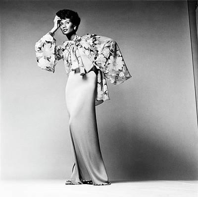 Beverly Johnson Wearing A Dress And Chiffon Poster