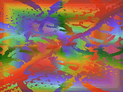 Beyond The Albatross Rainbow Poster by Tim Allen