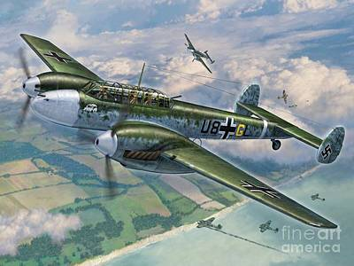 Bf-110 Zerstorer Poster by Stu Shepherd