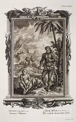 Biblical Hairy Esau, Scheuchzer, 1731 Poster