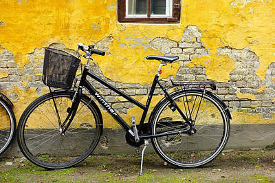Poster featuring the photograph Bicycle Aarhus Denmark by John Jacquemain