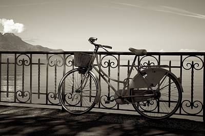 Bicycle Basket Fence Poster