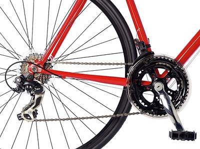 Bicycle Chain And Back Wheel Poster