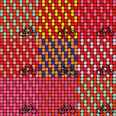 Bicycle In Pop Art  Poster