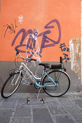 Poster featuring the photograph Bicycle Laspezzia Italy by John Jacquemain