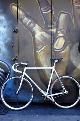 Poster featuring the photograph Bicycle Toronto Ontario by John Jacquemain