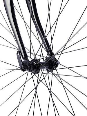 Bicycle Wheel Spokes Poster by Science Photo Library