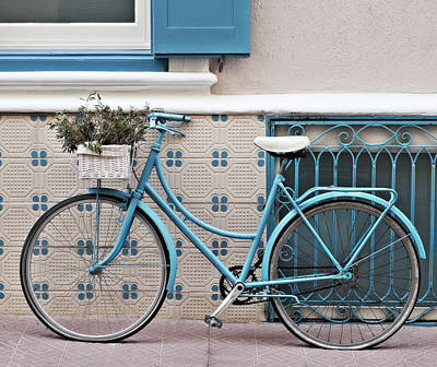 Vintage Bicycle Photography - Bicycles Are Not Only For Summer Poster