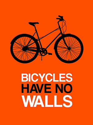 Bicycles Have No Walls Poster 1 Poster by Naxart Studio
