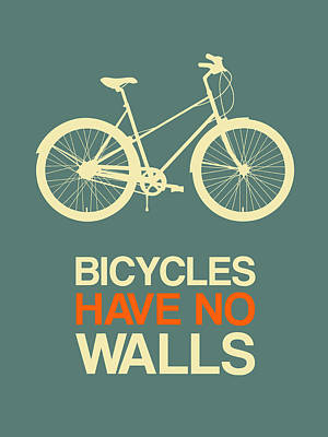 Bicycles Have No Walls Poster 3 Poster by Naxart Studio