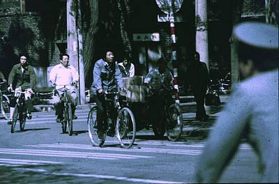 Bicycles In Beijing Poster