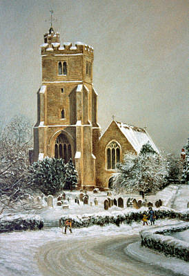 Poster featuring the painting Biddenden Church by Rosemary Colyer