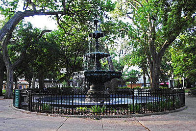 Bienville Fountain Mobile Alabama Poster