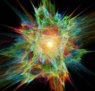 Big Bang Conceptual Artwork Poster by David Parker
