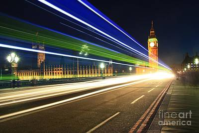 Big Ben And A Bus Poster