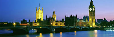 Big Ben And Houses Of Parliament Poster by Panoramic Images