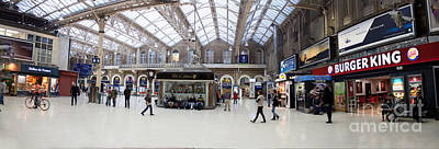 Charing Cross Station Panorama Poster by Thomas Marchessault