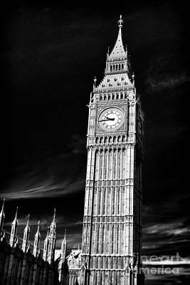 Big Ben Black Poster by John Rizzuto