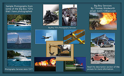 Big Boy Toys Photography Services Poster by Thomas Woolworth