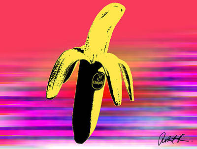 Big Chiquita Bannana On Canvas By Robert R Signed Poster