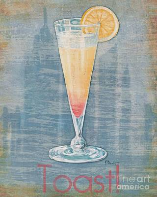 Big City Cocktails Champagne Poster by Paul Brent
