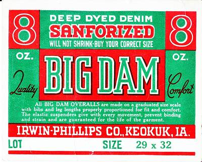 Big Dam Quality Poster by Jame Hayes