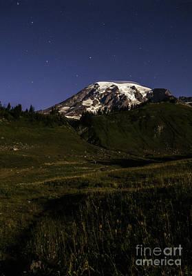 Big Dipper Over Mt Rainier Poster