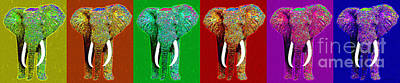 Big Elephant Six 20130201 Poster by Wingsdomain Art and Photography