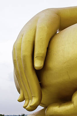 Big Hand Buddha Image Poster by Tosporn Preede