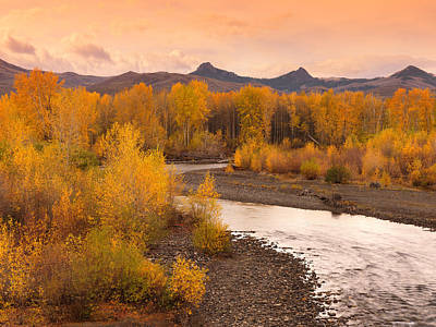 Big Lost River Autumn Sunset Poster