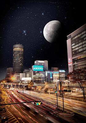 Big Moon Yokohama Poster by John Swartz