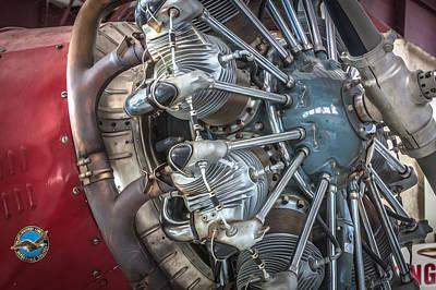 Big Motor Vintage Aircraft  Poster by Rich Franco