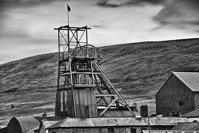 Big Pit Colliery Monochrome Poster