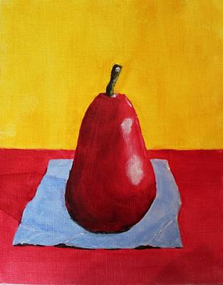 Big Red Pear Poster by Melvin Turner