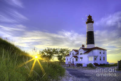 Big Sable Lighthouse Sunset Poster