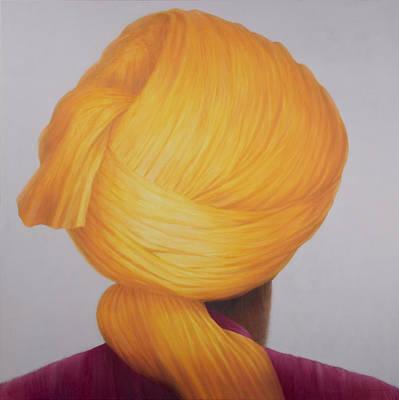 Big Saffron Turban Poster by Lincoln Seligman