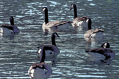 Poster featuring the digital art Big Spring Goose Art I   by Lesa Fine