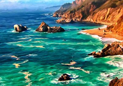 Big Sur Coast Poster by Michael Pickett