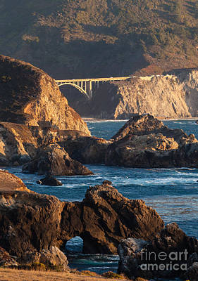 Big Sur Coastal Serenity Poster by Mike Reid