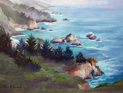 Big Sur In The Mist Poster