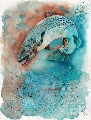 Big Trout Poster by Robin Moreng