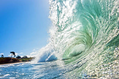 Poster featuring the photograph Big Wave On The Shore by Paul Topp