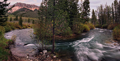 Big Wood River Curve 2 Poster by Leland D Howard