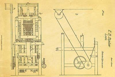 Bigelow Loom Patent Art 1837  Poster