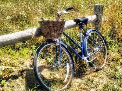 Bike At Nantucket Beach Poster by Tammy Wetzel