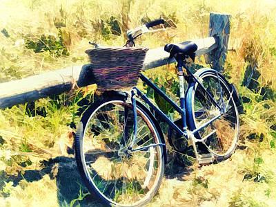 Bike At The Beach - Nantucket Poster by Tammy Wetzel