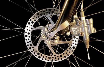 Bike Disc Brake Poster by Patrick Landmann